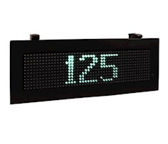 Single message vehicle counting sign