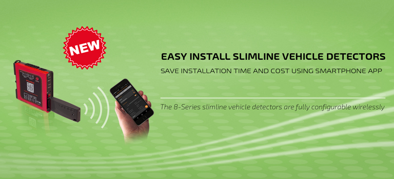 8-Series slimline vehicle detectors now available